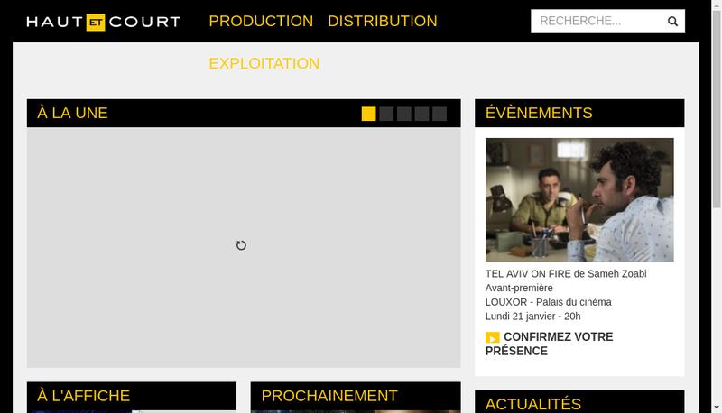Capture d'écran du site de Haut et Court