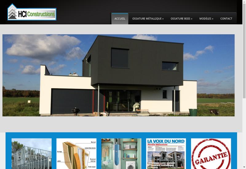 Capture d'écran du site de Hdi Construction