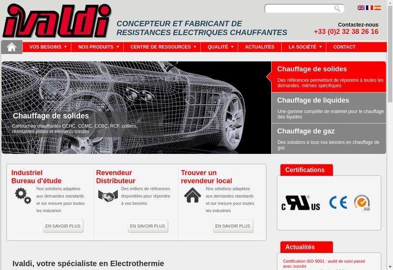 Capture d'écran du site de Ivaldi