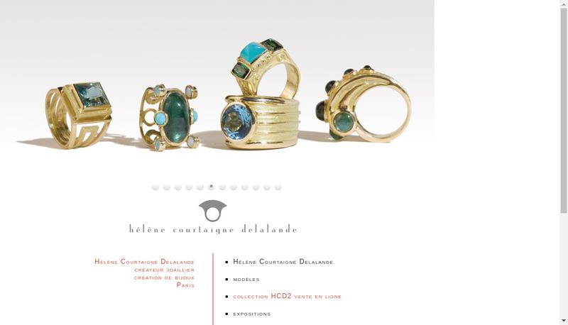 Capture d'écran du site de Helene Courtaigne Delalande