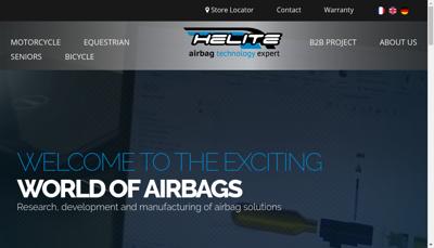 Capture d'écran du site de Helite