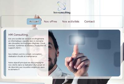 Capture d'écran du site de Hm Consulting et Ingenierie