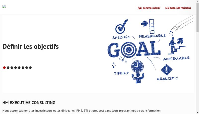 Capture d'écran du site de Hm Executive Consulting