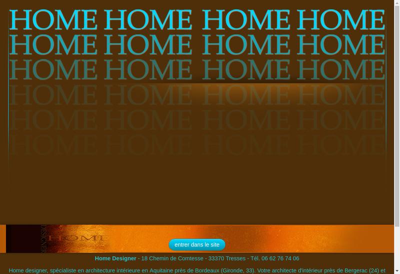 Capture d'écran du site de Home Designer