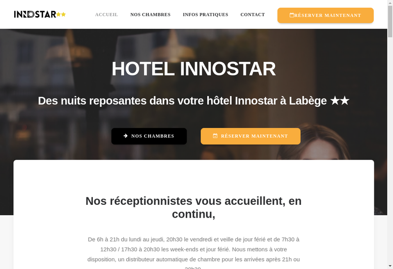 Capture d'écran du site de Innostar