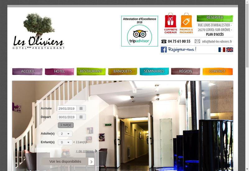Capture d'écran du site de Les Oliviers