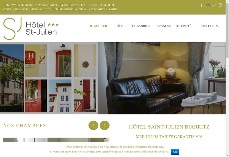 Capture d'écran du site de Hotel St Julien