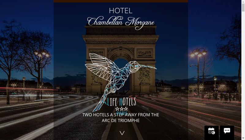 Capture d'écran du site de Hotel Chambellan Morgane