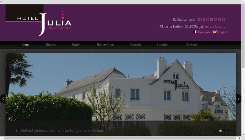 Capture d'écran du site de Hotel Julia