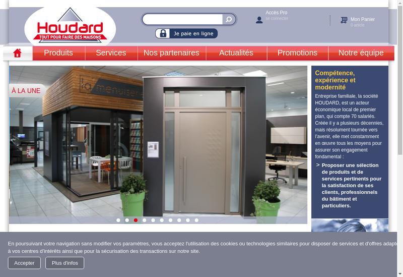 Capture d'écran du site de Houdard Materiaux