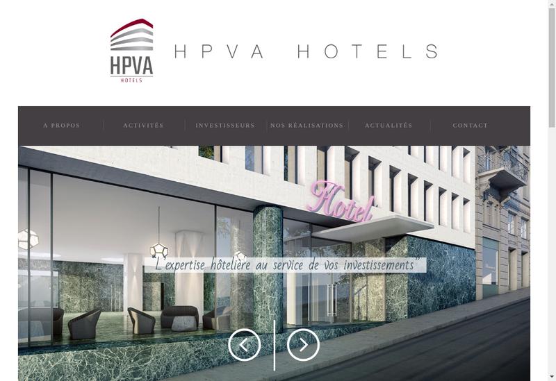 Capture d'écran du site de Hpva Hotels