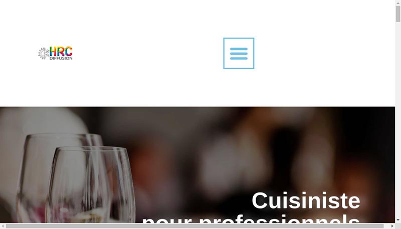 Capture d'écran du site de Hrc Diffusion