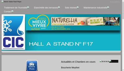 Capture d'écran du site de Cic Rhone Alpes