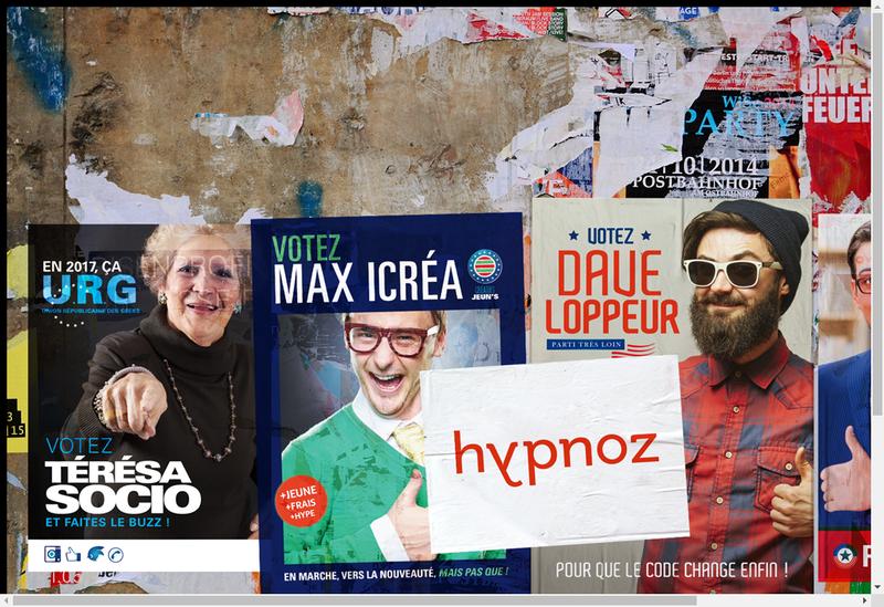 Capture d'écran du site de Hypnoz
