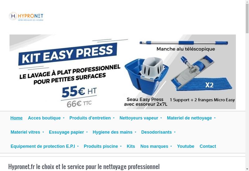 Capture d'écran du site de Hypronet