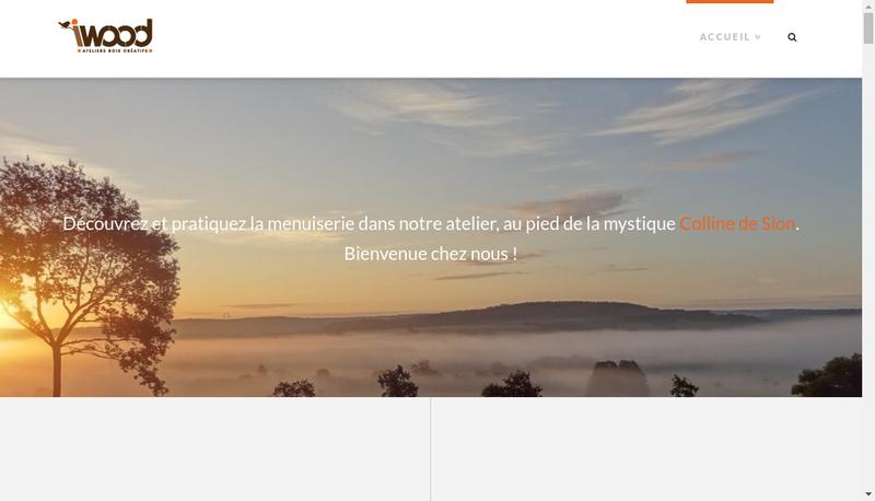 Capture d'écran du site de I Wood - Atelier Bois (Re) Creatif