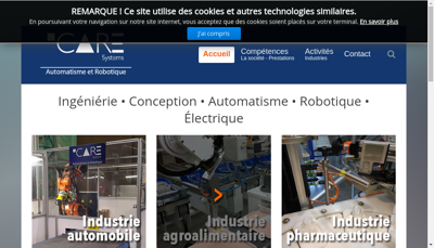 Capture d'écran du site de Icare Systems