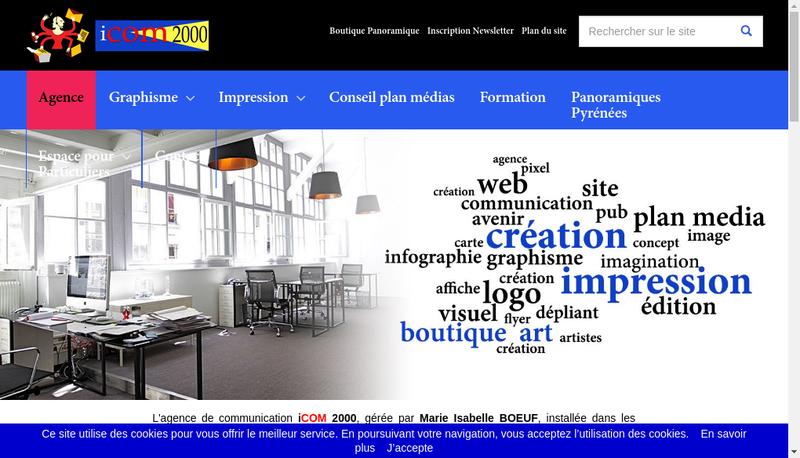 Capture d'écran du site de Icom2000