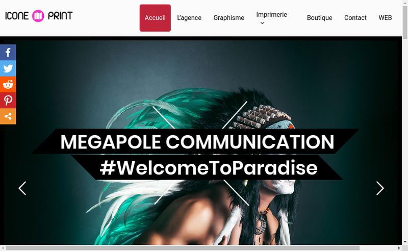 Capture d'écran du site de Icone Internet