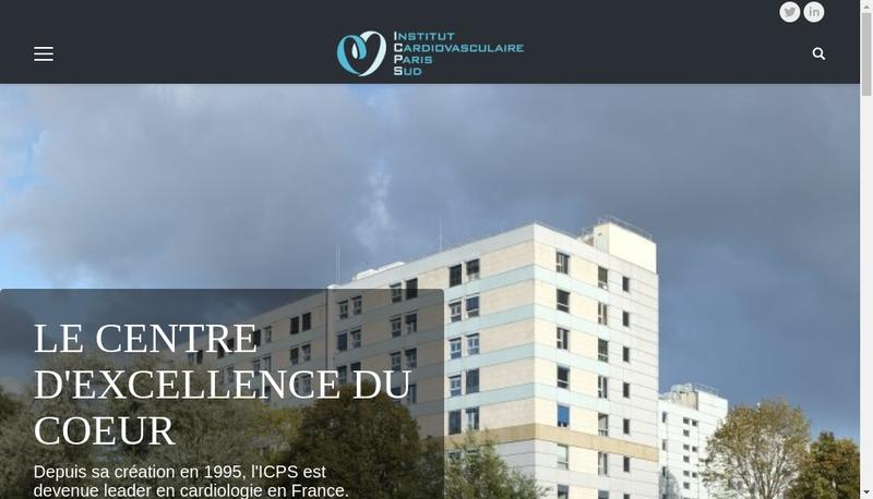 Capture d'écran du site de Dr Thomas Hovasse - ICPS