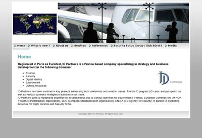 Capture d'écran du site de Id Partners
