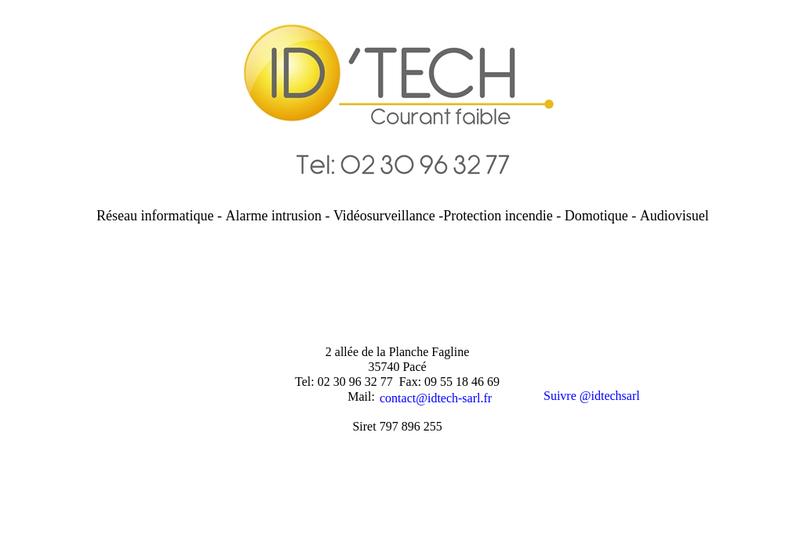 Capture d'écran du site de Id Tech