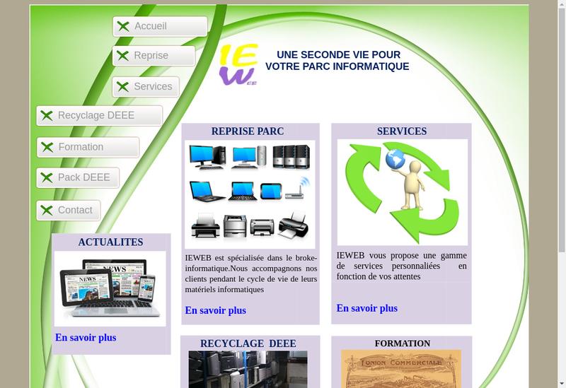 Capture d'écran du site de Ieweb