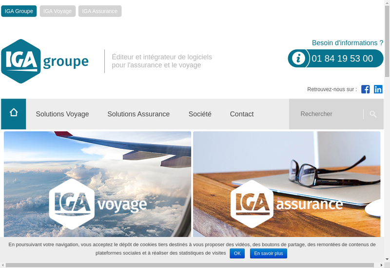Capture d'écran du site de Iga Pegase