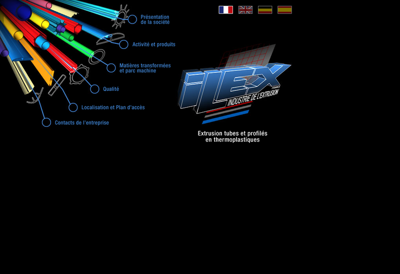 Capture d'écran du site de Ilex France
