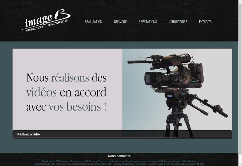 Capture d'écran du site de Image B