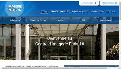 Site internet de Irm Paris 16