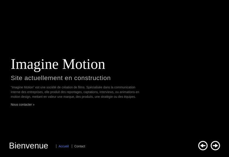 Capture d'écran du site de Imagine Motion