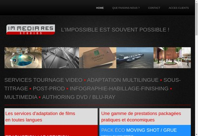 Site internet de Im Media Res