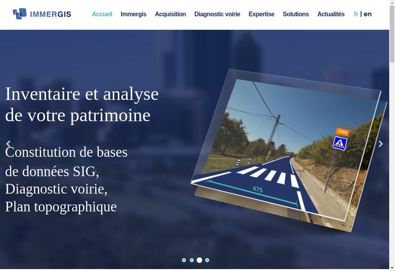 Capture d'écran du site de Immergis