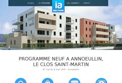 Capture d'écran du site de Immo d'Avenir