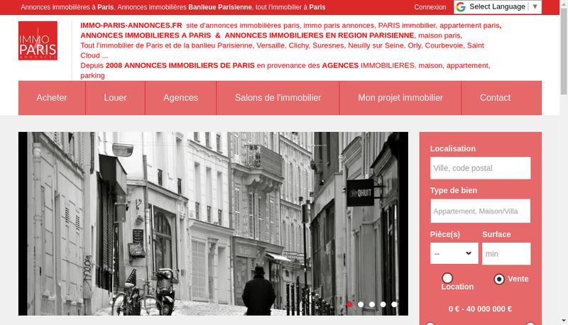 Capture d'écran du site de Cogimmo SARL