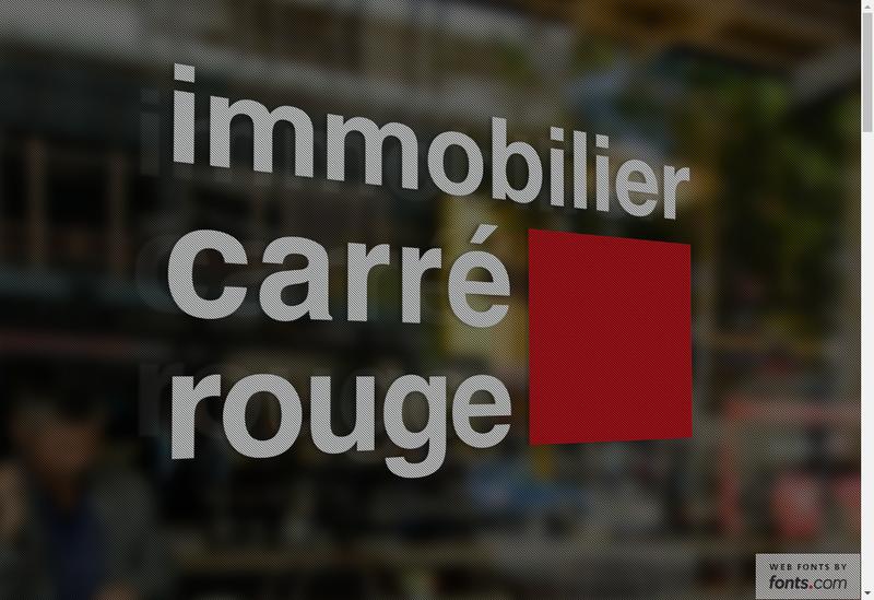 Capture d'écran du site de Carre Rouge Immobilier