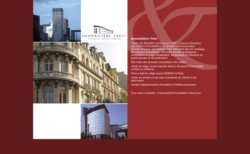 Capture d'écran du site de Immobiliere Trevi