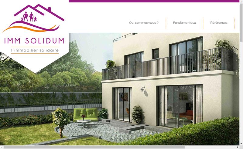 Capture d'écran du site de Imm Solidum