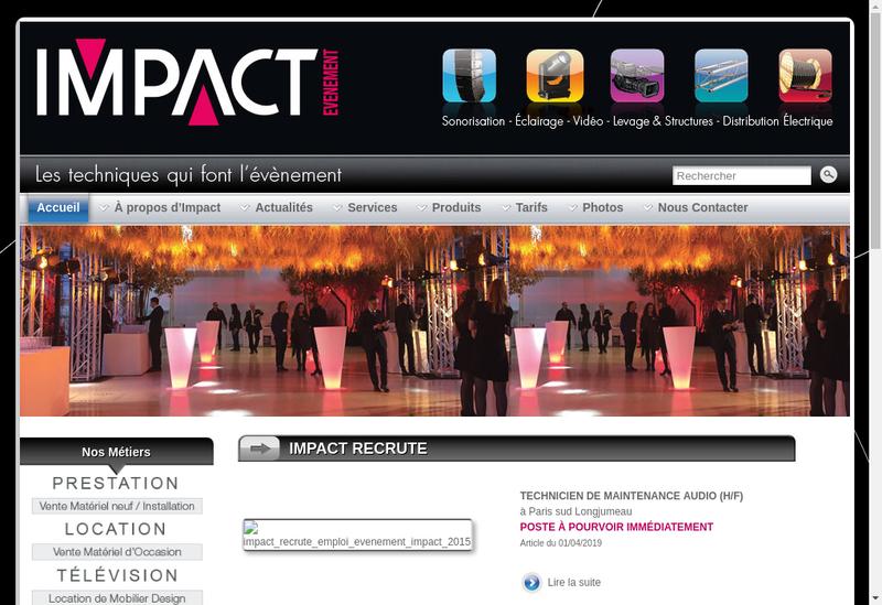 Capture d'écran du site de Icd