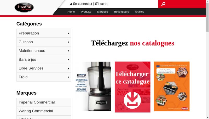 Capture d'écran du site de Imperial International