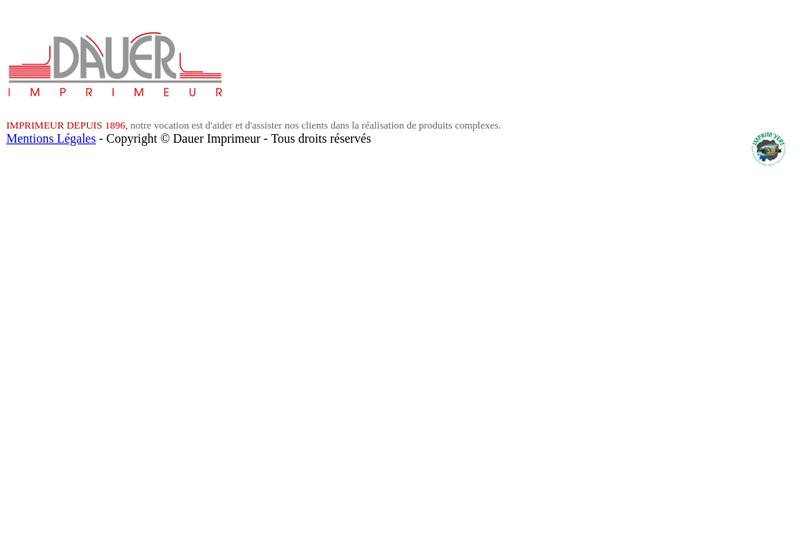 Capture d'écran du site de Imprimerie Maurice Dauer