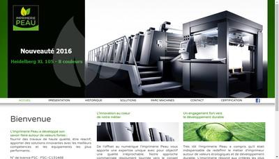 Site internet de Imprimerie Peau