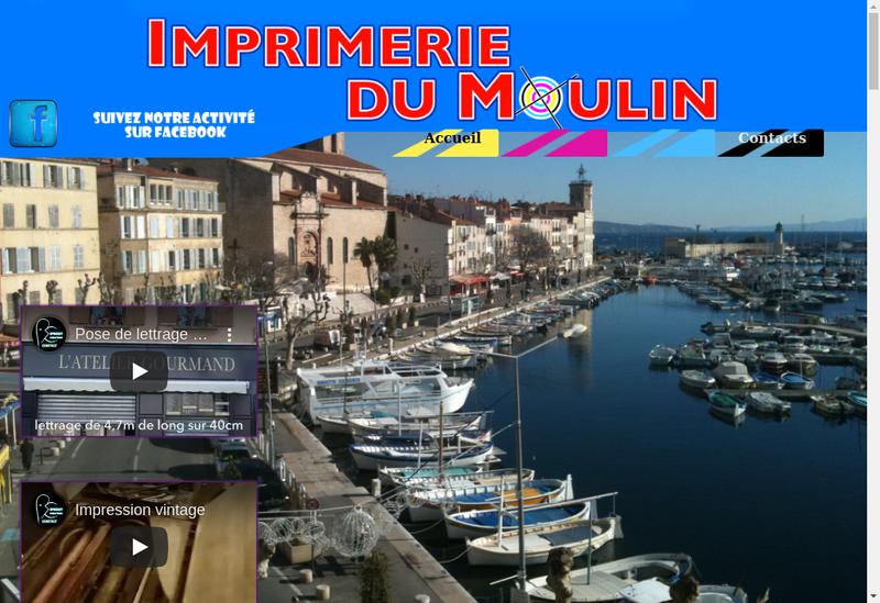 Capture d'écran du site de Imprimerie du Moulin