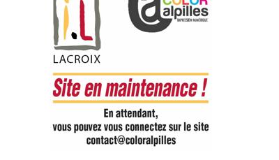 Capture d'écran du site de Imprimerie Lacroix