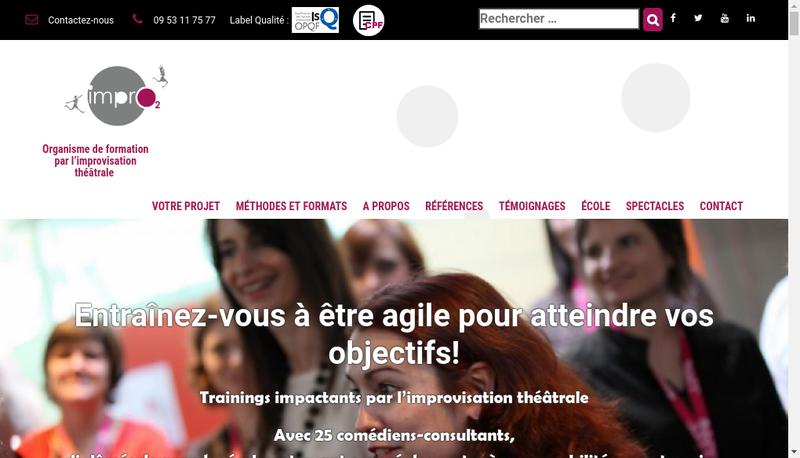 Capture d'écran du site de Impro2