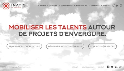 Site internet de Inatis Project Consulting