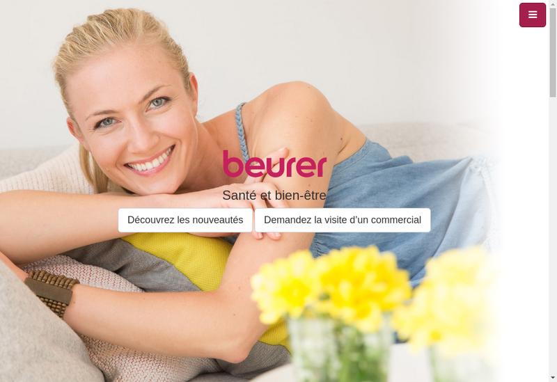 Capture d'écran du site de Beurer France