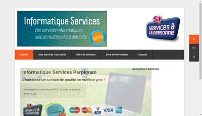 Capture d'écran du site de Informatique Services