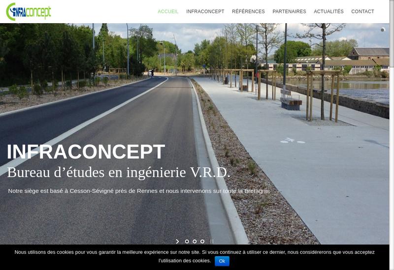 Capture d'écran du site de Infraconcept